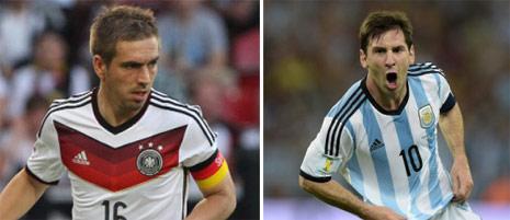 هل يرفع ميسي الكأس الثالثة للأرجنتين أم لام الرابعة لألمانيا (أ ف ب)