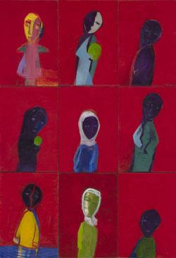 «خطأ» للروسية إيلينا فيغيرينا (زيت على كانفاس ــ 180× 150 سنتم ــ تفصيل ــ  2000)