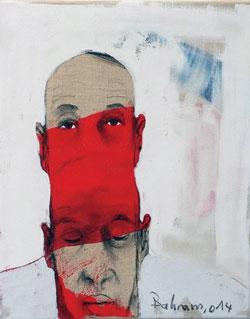 «من دون عنوان» لبهرام حاجو (مواد مختلفة على كانفاس ــ 40×50 سنتم ــ 2014)