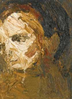 «رأس E.O.W» للألماني فرانك أورباخ (زيت على لوح ــ 20×15 سنتم ــ 1955)