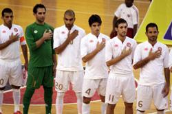 لاعبو المنتخب اللبناني خلال بطولة غرب آسيا الماضي في قطر (أرشيف)