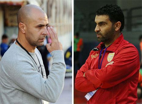 أنقذ محمد الدقة (الى اليمين) ومالك حسون فريقيهما من الهبوط الى الدرجة الثانية (عدنان الحاج علي)