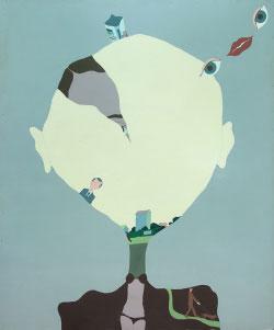 «طيران طيران...» للروسي فيكتور بيفوفاروف ( طلاء على ورق مقوى ــ 133×173 سنتم ــ 1973)