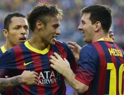يستضيف ملعب «كامب نو» دربي كاتالونيا بين برشلونة واسبانيول (أ ف ب)