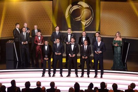 لاعبو برشلونة اكثر من لاعبي بايرن في التشكيلة المثالية(أ ف ب)