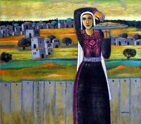 «خلف الجدار» لنبيل عناني (أكريليك على كانفاس ــ 107×120.5 سنتم ــ2013)