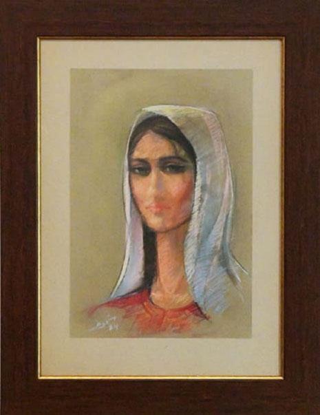 «راما» لإسماعيل شموط (باستيل على لوح ــ 45×30 سنتم ــ1984)