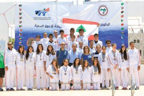 البعثة اللبنانية المشاركة في البطولة العربية