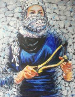 «انتفاضة» ليوسف غزاوي (أكريليك على قماش ـــ 70 × 100 سنتم ــ 2015)