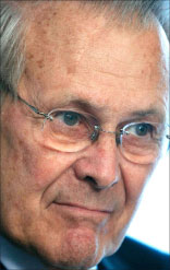 وزير الدفاع الأسبق دونالد رامسفيلد (أ ف ب)