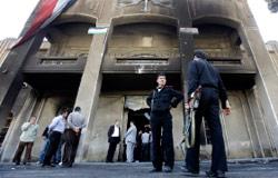 مقر وزارة العدل التي أحرقها المحتجون في درعا (حسين ملا ـ أ ب)