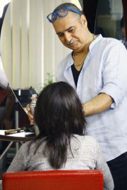 عبّاس النوري خلال تصوير أحد مشاهده في المسلسل