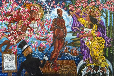«بيع فينوس» للفنانة الكوبية ليلي بيرنار (زيت على قماش ــ 2011)