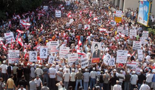 من الاعتصام ضد الزيارة (بلال جاويش)