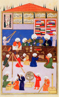 «علماء فلك عثمانيون يعملون بجانب تقي الدين في مرصد اسطنبول» (1574 ــ 1595 م) لعلاء الدين منصور شيرازي