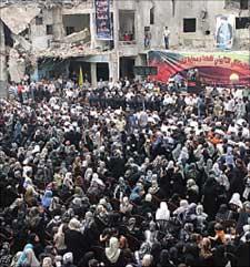 احتفال تأبيني لشهداء مجزرة الشياح (مروان طحطح)