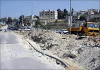 طريق حبوش كما تبدو بعد شهر من وقف اطلاق النار